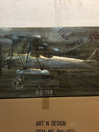 Metalltavla 100X50 Cm Flygplan