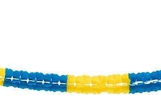 PAPER SWIRL GARLAND BLUE/YELLOW 6M