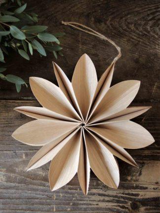Julstjärna Wood Snowflake 20 Cm