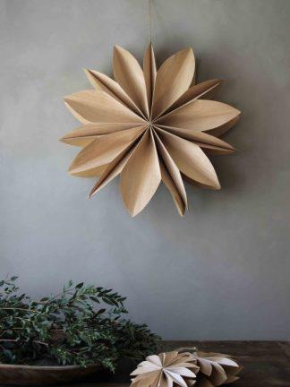 Julstjärna Wood Snowflake Xlarge